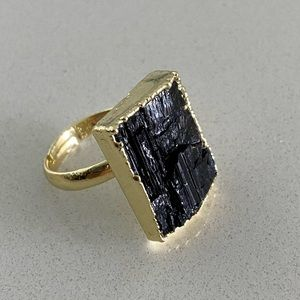 Black Tourmaline adjustable ring 💍